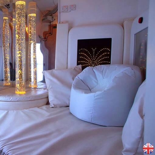 Uv white sensory room bean bag floor cushion