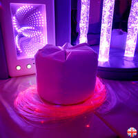 Uv white sensory room bean bag floor cushion